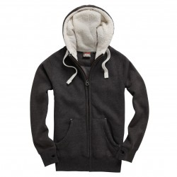 Sherpa Fleece Zip Up Hoodie